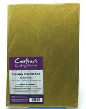 Crafters Companion Luxury Cardstock Carnival 40 Sheets 8.5in. x 11in. New