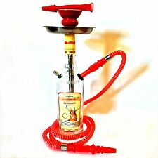 Cazadores® Hookah Shisha Narghile Chicha 1L Tequila Glass Bottle Custom Red