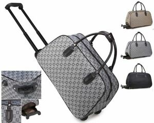 Unisex G Print Holdall Trolley Weekend Bag Hand Luggage Holiday Travel Handbag
