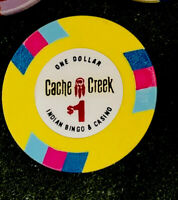CACHE CREEK CASINO ,  $1  CHIP,  CALIFORNIA INDIAN CASINO