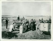 1914 World War I Battery on Belgian Battlefield Original News Service Photo