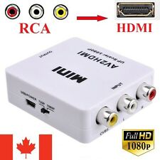 Composite AV RCA to HDMI Video Audio Converter Adapter 720p 1080p Upscaler CVBS