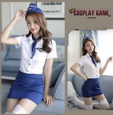 Completo Costume Airline Sexy Hostess Assistente Volo Flight Lingerie Uniforme