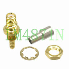 Microdot Connector female nut bulkhead 10-32UNF RG174 RG316/188 Ultrasonic Flaw