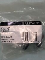 Oil Rubbed Bronze Baldwin 6764 Interior and Entrance Thumb Turn Lock with Backplate for 2-1//4 Doo