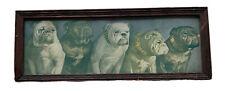 Vintage Bulldog Dog Framed Artwork Signed By KenYon