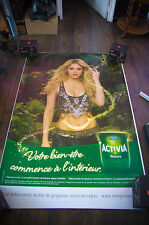 ACTIVIA SHAKIRA 4x6 ft Bus Shelter Original Celebrity Advertising Poster 2014