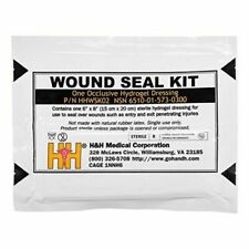 Made in USA Military Occlusive Hydrogel Dressing Combat Wound Seal Kit, HHWSK02