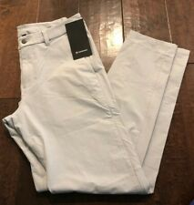 "NWT Men's Lululemon Size 34 Commission Pant Slim 34"" Length Chino Pale Gray SIS"