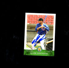 Mark Johnson  2014 Kane County cougars auto signed team card Chicago Cubs