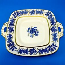 Royal Stafford Blue Grape Vine and Roses Cake Plate 10 5/8""
