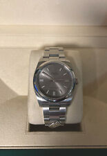 Dominos Rolex 116000 Oyster Perpetual Silver Dial W/ Papers And Original Box