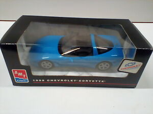 ERTL AMT Promo Built Model Car Blue Corvette 8089  New