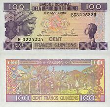 Guinea 100 Francs (1985) - Carving/Bananas/p30 UNC