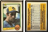 Mike Caldwell Signed 1983 Donruss #154 Card Milwaukee Brewers Auto Autograph