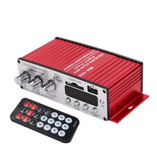 Mini Hi-Fi Audio Amplifier Booster MP3 Stereo 12V For Car Motorcycle Boat Home