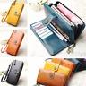 Leather Wallet Women Large Capacity Clutch Purse Luxury Phone Holder Handbag S/L