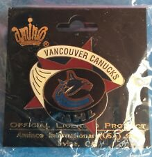 Rare Vancouver Canucks Licensed Collectible NHL Hockey Star Puck Lapel Pin F