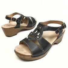 Dansko Women's Leather Open Toe Platform Sandals Heel US 10.5-11 Euro 41 Strappy