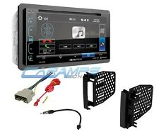 BLUETOOTH GLASS PANEL TOUCHSCREEN DOUBLE 2 DIN CAR STEREO RECEIVER W INSTALL KIT
