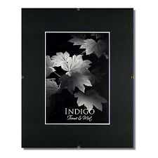 Set of 2 - 11x14 Glass & Clip Frames, Single Black Mats for 8.5x11 - $12 SHIP