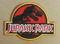 Jurassic Park Red Logo Patch 4 inches wide