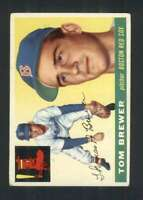 1955 Topps #83 Tom Brewer VG/VGEX RC Rookie Red Sox 85717