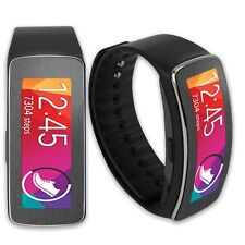 Skinomi Brushed Steel Skin+Clear HD Screen Protector for Samsung Gear Fit