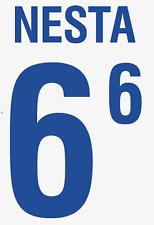 Italy Nesta Nameset 2002 Shirt Soccer Number Letter Heat Print Football Away