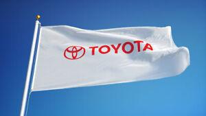 TOYOTA FLAG NEW 3x5ft white premium quality satin USA seller