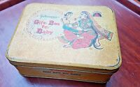 Vintage Johnson's Gift box for baby Tin box Adv. Child & Mother Image India 1970