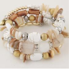 Handmade Bohemian Bracelets All REAL Natural Stone REALSea Shell Bracelet WHITE