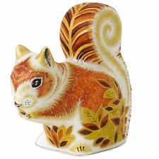 New Royal Crown Derby 1st Quality Autumn Squirrel Paperweight with Gift Box