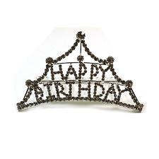 Happy Birthday Lovely Women Kid Fashion Hair Accessory Design Tiara Comb Pin