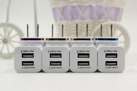 4x  3.1 Amp 2-port 5V USB Universal Travel Wall Charger For Mobile Smartphones