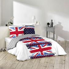 Housse de couette + 2 Taies d'oreiller 260X240 cm VINTAGE BRITISH FLAG