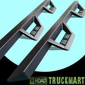 07-17 Fit Silverado SIERRA Extend Cab Nerf Running Boards Triangular Step Bars