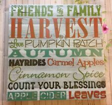 Mark Feldstein FRIENDS AND FAMILY Autumn Wallhanging New