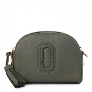 Marc Jacobs SHUTTER CROSSBODY BAG Cactus Green Handbag Purse Leather New