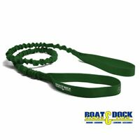 Extra Long Dock Tie Bungee , 5 Feet long Stretches to 8 Feet Green