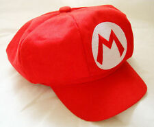 New Super Mario Bros Adult Kids Costume Hat Anime Cosplay Red Octagonal Cap