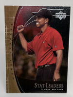 Tiger Woods 2001 Upper Deck Golf Stat Leaders #SL17 PGA Tour Rookie Card RC