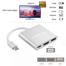 USB 3.1 Typ C zu 4k HD HDMI USB 3.0 USB-C Hub Adapter Kabel  für Mac Samsung S8