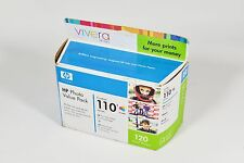 HP 110 Photo Value Pack Tri-color Inkjet Cartridge + 120 Photos