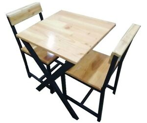 2 Seater Table with Chair (Pine Finger Joint Slab)