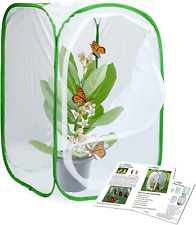 """Terrarium Pop-up Insect & Butterfly Monarch Habitat Cage Collapsible 23.6"""""""