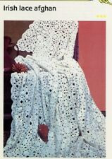 Irish Lace Afghan Cavendish Crochet Pattern/Instructions Leaflet