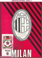ITALIA MAXIMUM MAXI CARD MILAN CAMPIONE D'ITALIA 1987 - '88 1988 MILANO B252