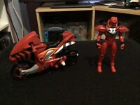 Power Rangers Jungle Fury Strike Rider + Ranger Figure