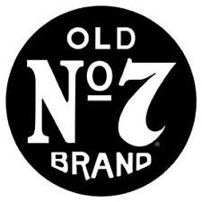 Jack Daniels Old No. 7 Vintage ROUND TIN SIGN Whiskey Bar Metal Wall Decor Ad